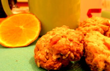 orange white oat biscuits