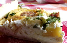 rustic quiche with sausages