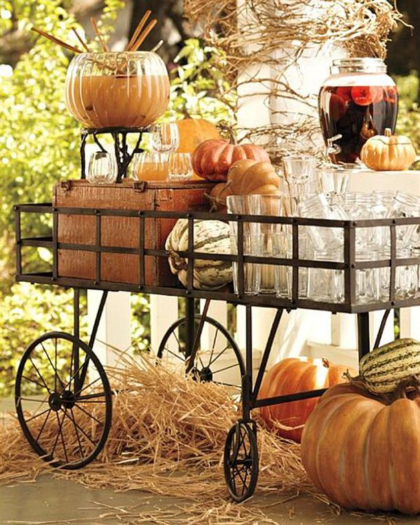 Unique table from old thing Halloween Decorating Ideas - Unique Halloween Decoration Ideas