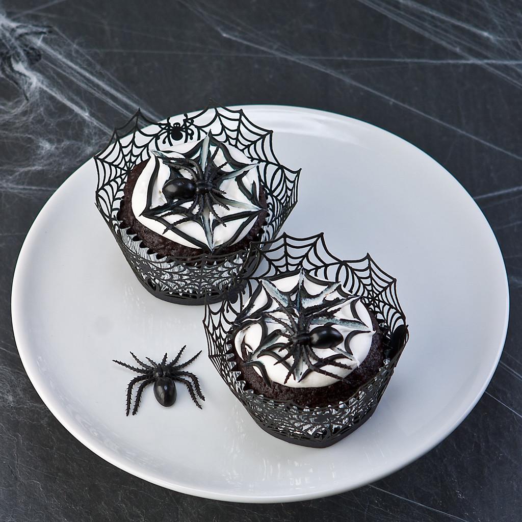 best halloween spiders cupcakes