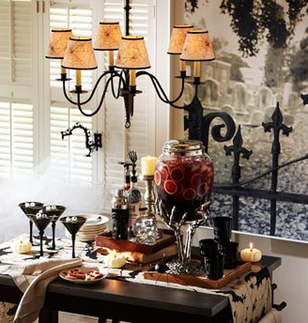 halloween decoration table idea my easy recipes. Black Bedroom Furniture Sets. Home Design Ideas