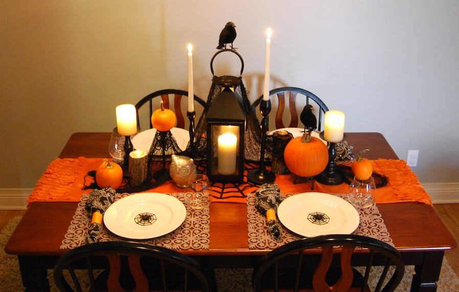 the best 10 halloween table decorations ideas my easy recipes. Black Bedroom Furniture Sets. Home Design Ideas