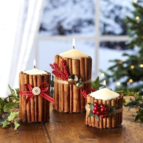 cinnamon candles centerpieces