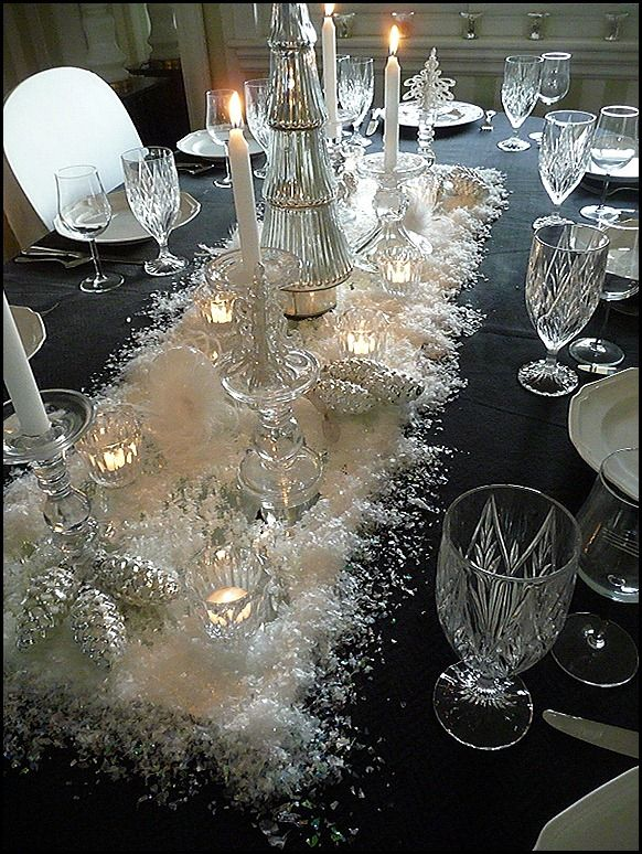 elegant christmas centerpiece : crystal table settings - pezcame.com