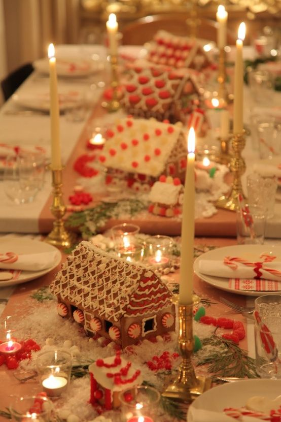 gingerbread houses for christmas table